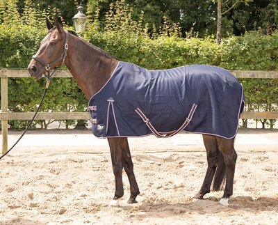 Harry's Horse Zomerdeken Cool & Dry Honeycomb Navy