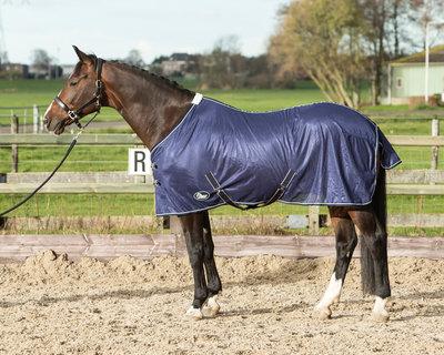 Harry's Horse Vliegendeken mesh standaard met singels, navy